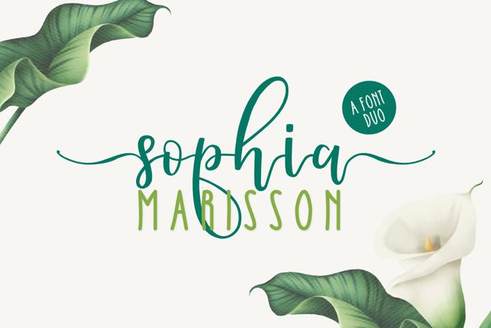 Sophia Marisson Font poster