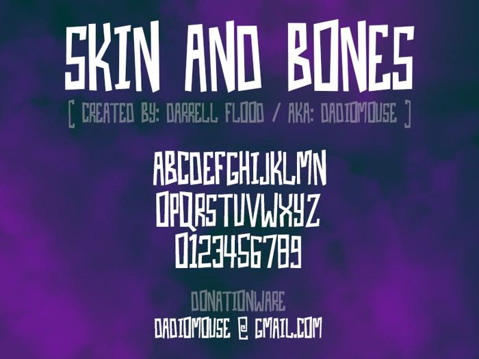 Skin And Bones Font poster