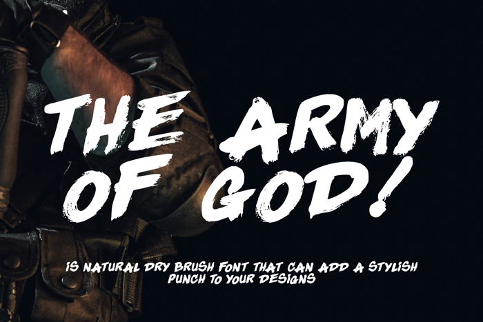 The Army Of God Font poster