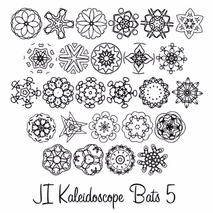 JI Kaleidoscope Bats 5 Font poster