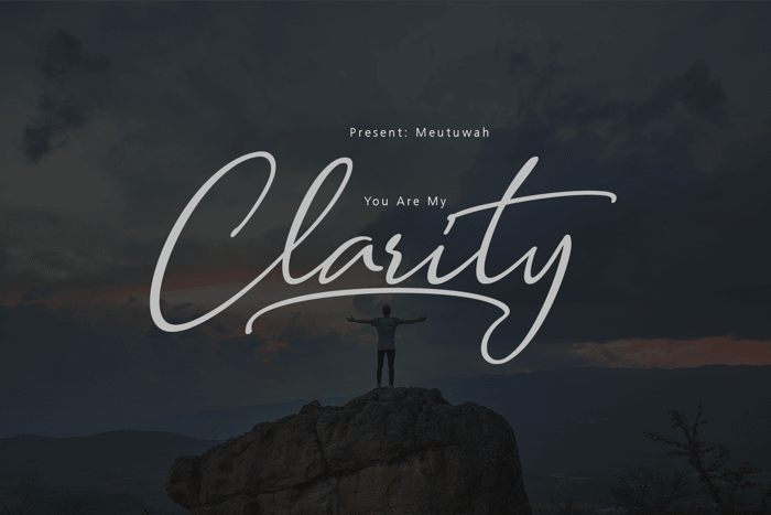 Clarity free Font poster