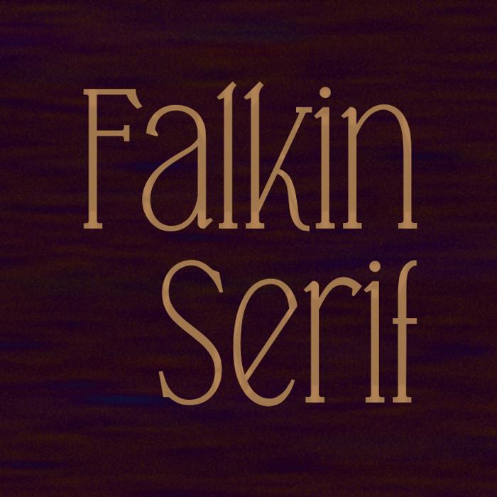 Falkin Serif Font poster