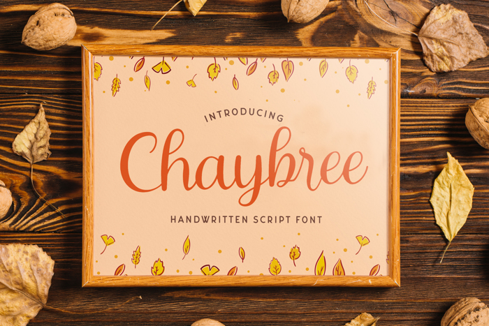 Chaybree Font poster