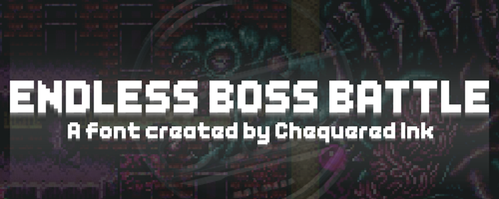 Endless Boss Battle Font poster