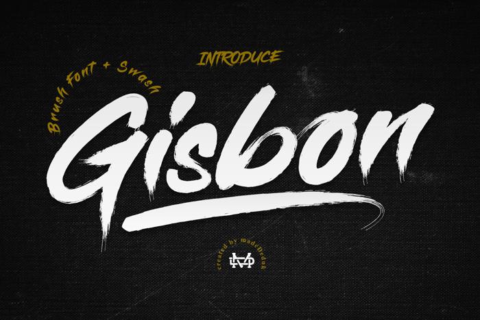 Gisbon Font poster