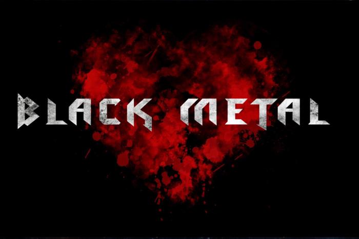 blackmetal Font poster