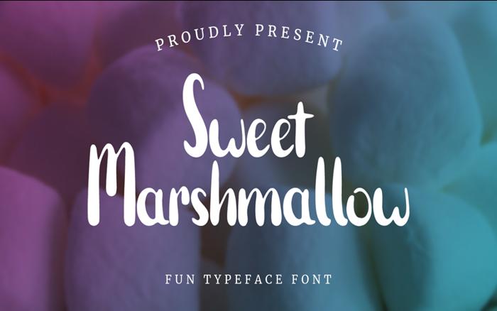 Sweet Marshmallow Font