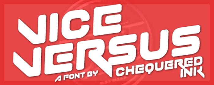 Vice Versus Font poster
