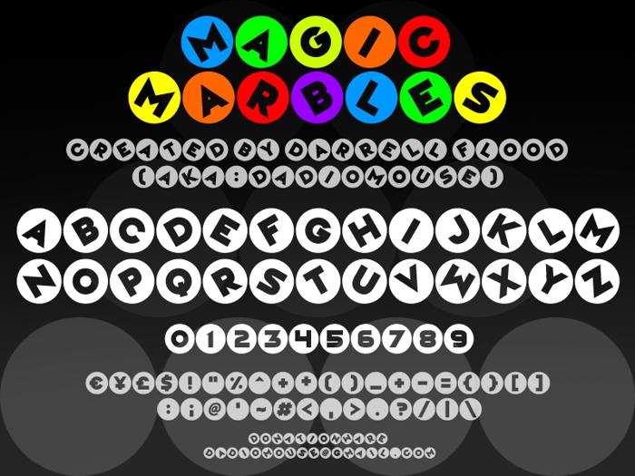 Magic Marbles Font poster