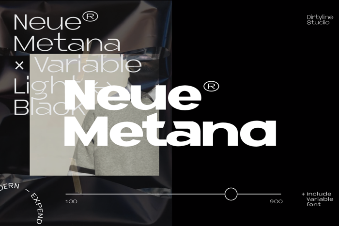 Neue Metana Font poster