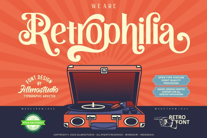 Retrophilia Font poster