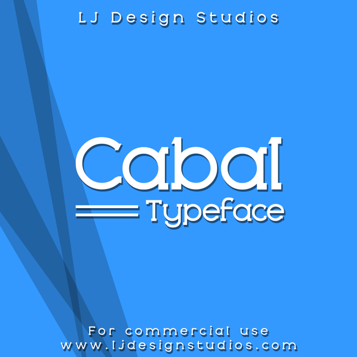 Cabal Font poster