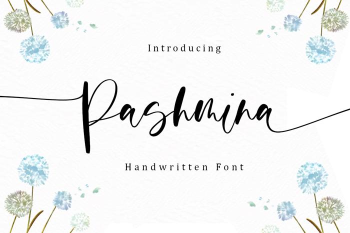 Pashmina Font poster