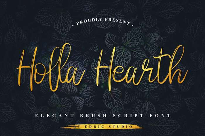 Holla Hearth Font poster