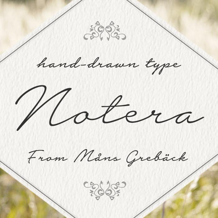Notera 2 Underline Font poster
