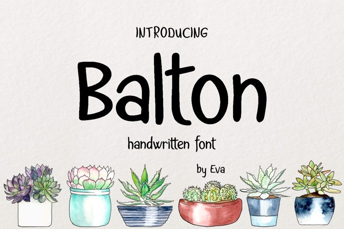 Balton Font poster