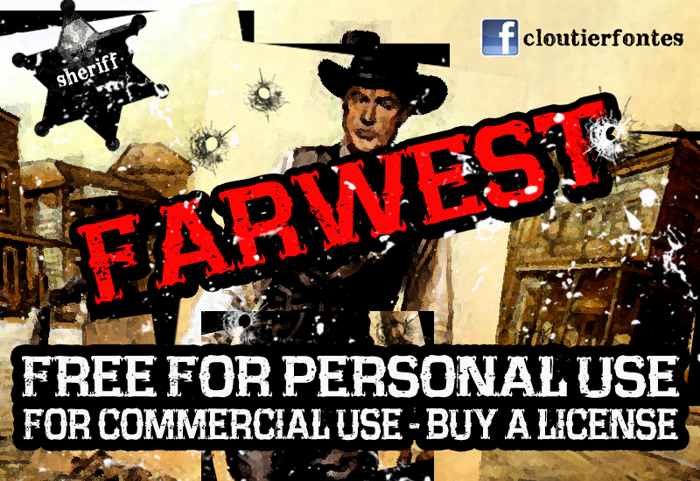 CF Farwest Font poster