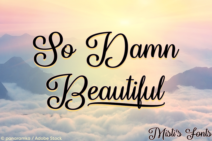 So Damn Beautiful Font poster