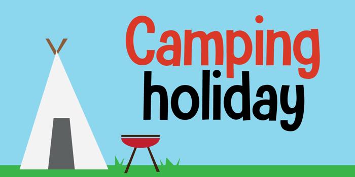 Camping Holiday DEMO Font poster