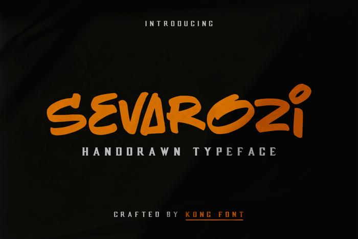 Sevarozi Font poster
