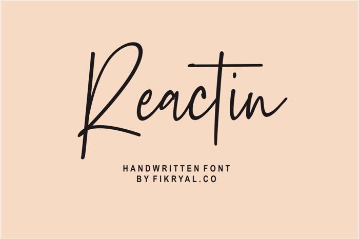 Reactin Font poster