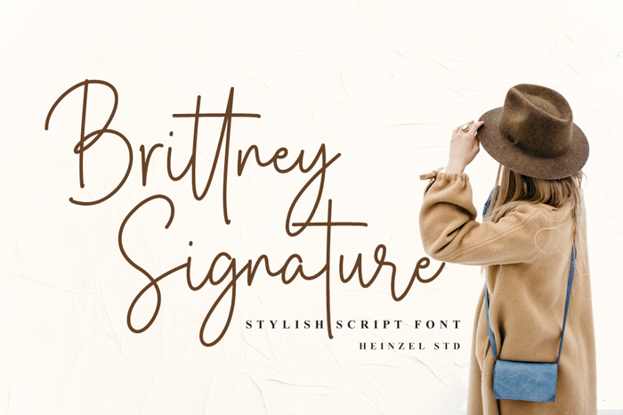 Brittney Signature Font poster
