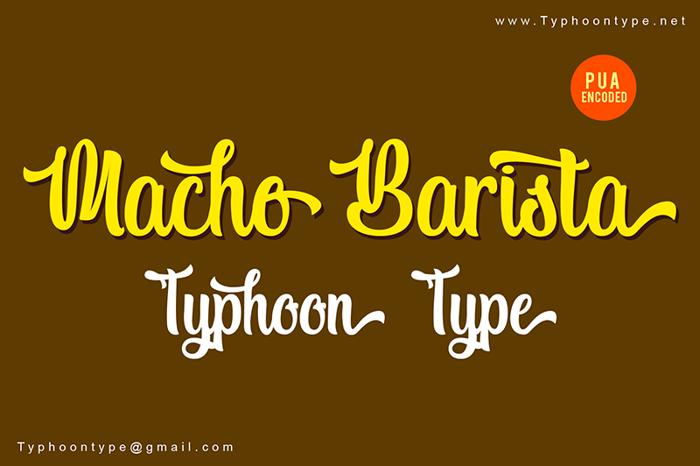 Macho Barista Font poster