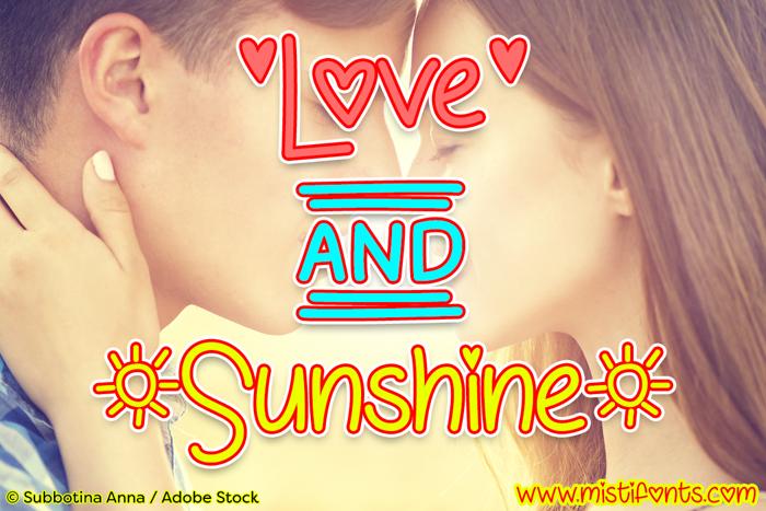 Love & Sunshine Font poster