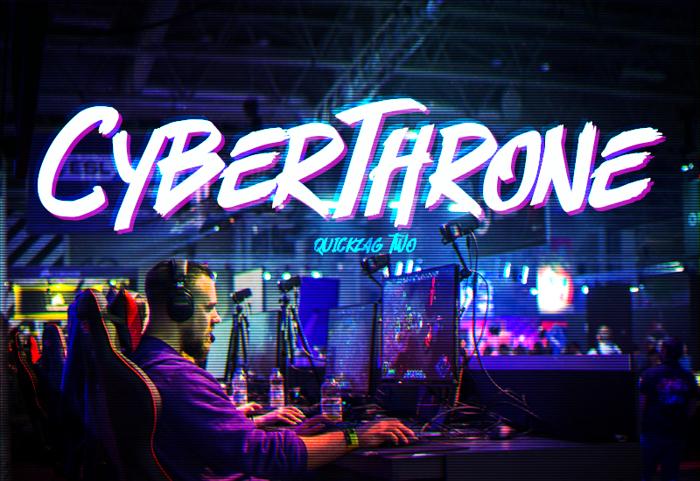 Cyberthrone Font poster