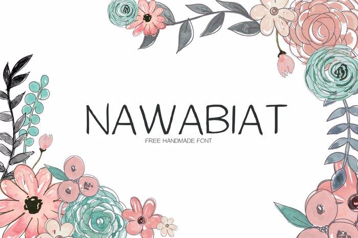 Nawabiat Font poster