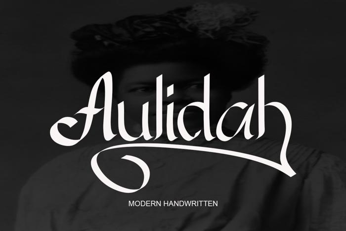 Aulidah Font poster