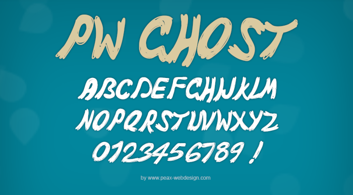 PWGhost Font poster