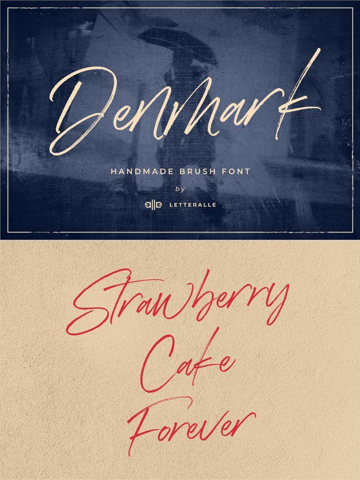 Denmark Font poster