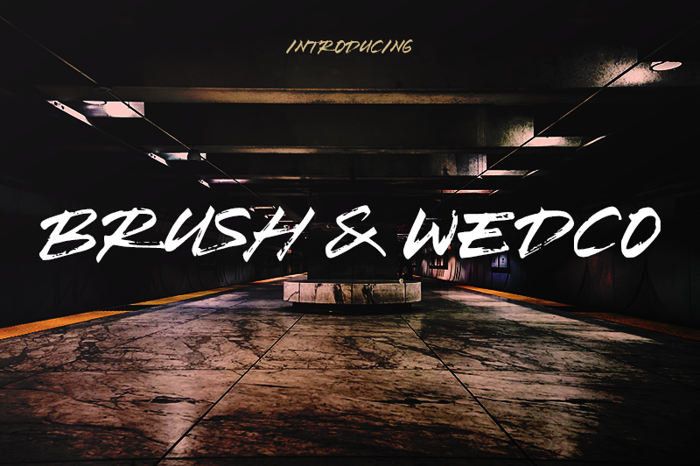 Brush Wedco Font poster