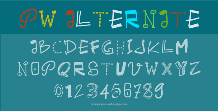 PWAlternate Font poster