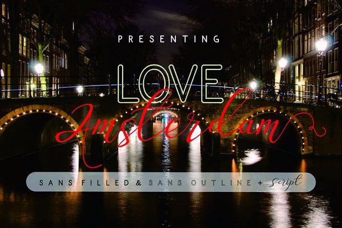 Love Amsterdam Script Font poster