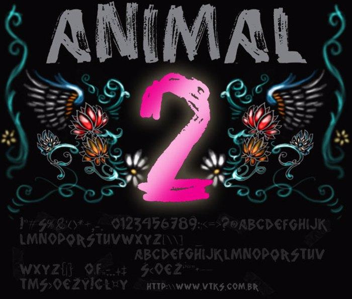 vtks animal 2 Font poster