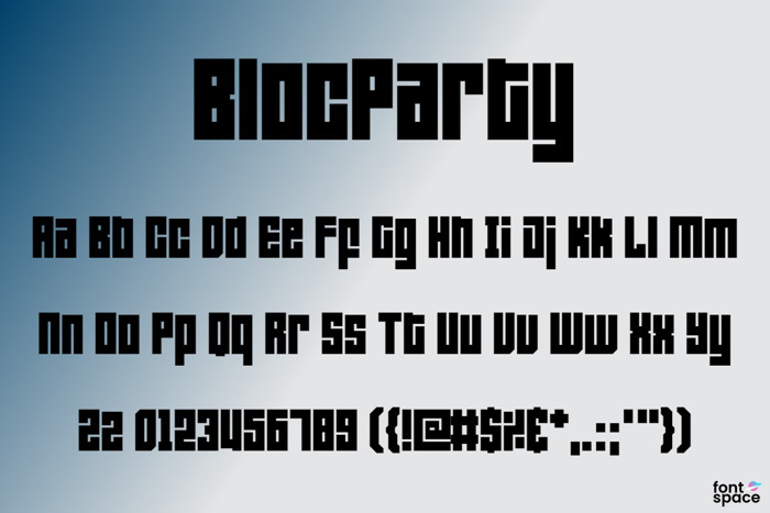 Bloc Party Font