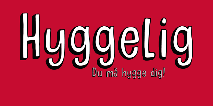DK Hyggelig Font poster