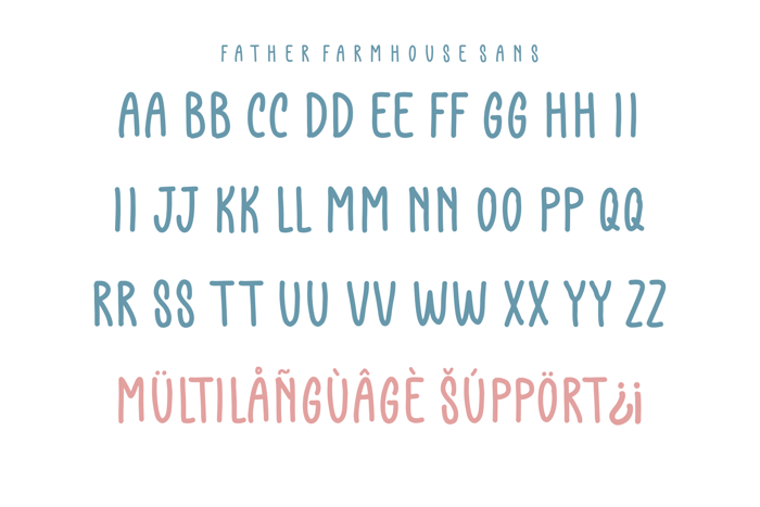 Father Farmhouse Sans Font poster