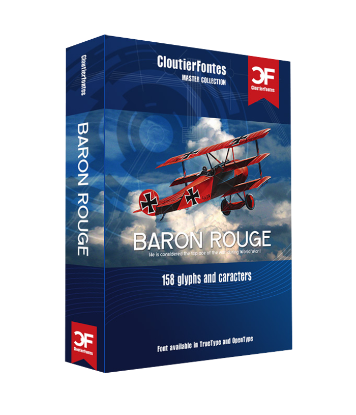 CF Baron Rouge Font poster