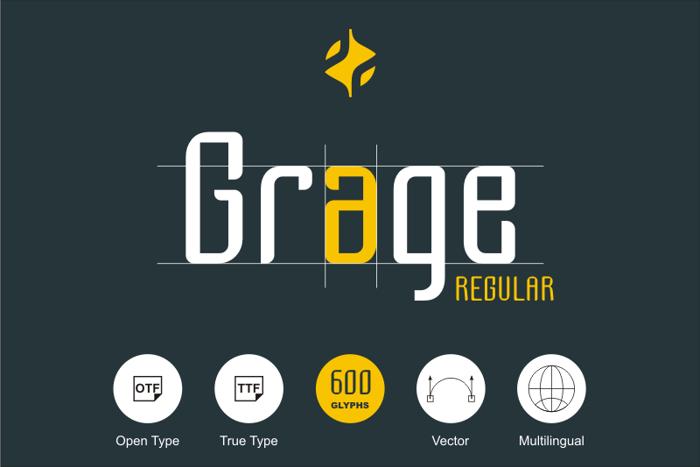 Grage Font poster