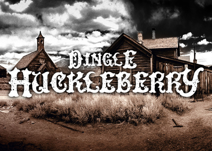 DinglE HuckleberrY Font poster