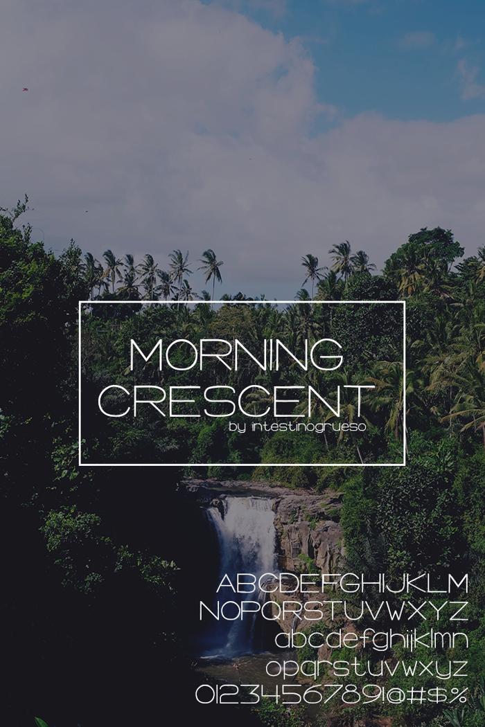 Morning Crescent Font poster