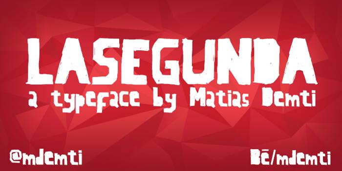 LaSegunda Font poster