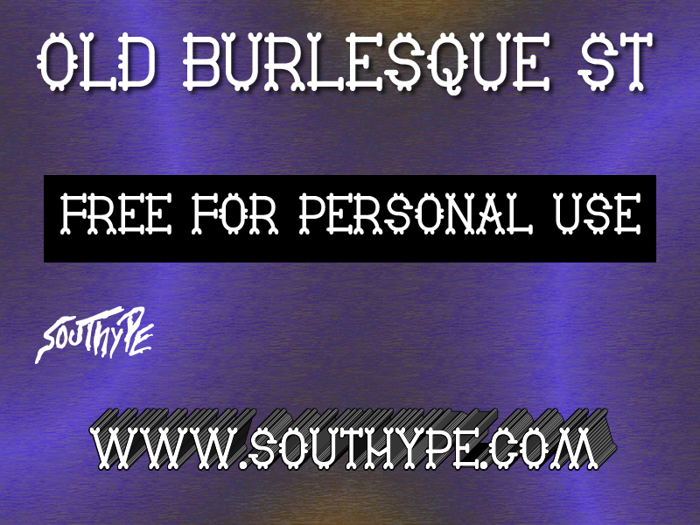 Old Burlesque St Font poster