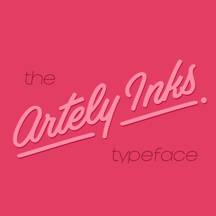 Artely Inks Font poster