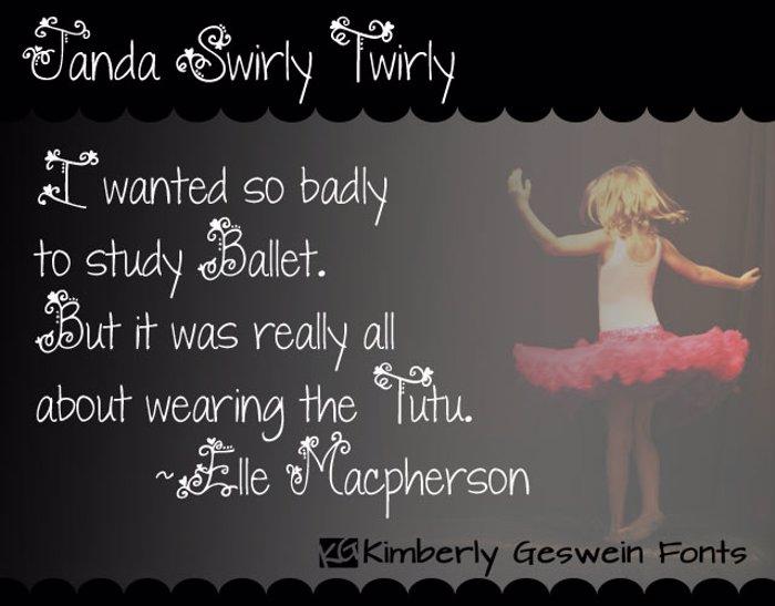 Janda Swirly Twirly Font poster