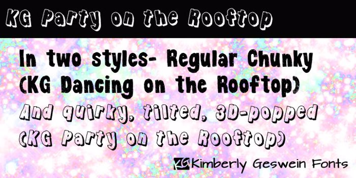 KG Party on the Rooftop Font poster