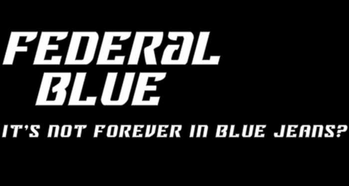 Federal Blue Font poster